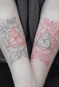 27款適合女生的小清新素花花卉???紋身圖案