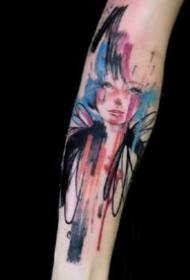 9款小清新感覺的水彩色潑墨紋身圖案