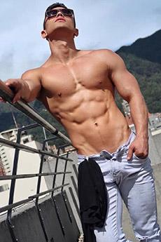 性感肌肉男神腹肌寫真照片