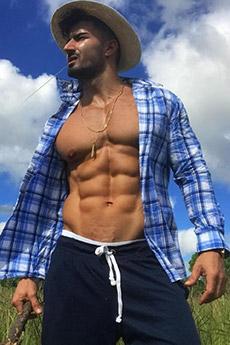 身材迷人的欧美肌肉型男图片
