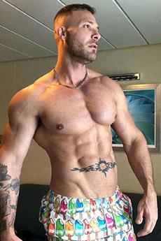 性感歐美男模腹肌寫真照片