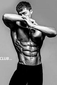 精悍型肌肉男健身模特性感艺术照片