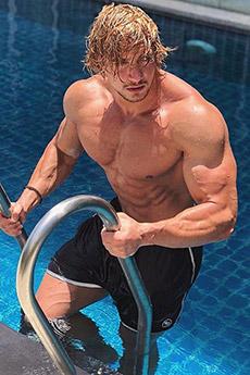 歐美健身型男Jo Lindner性感寫真照片