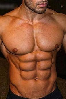 歐美腹肌男人秀肌肉藝術照片