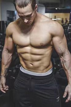 欧美性感肌肉男模写真照片