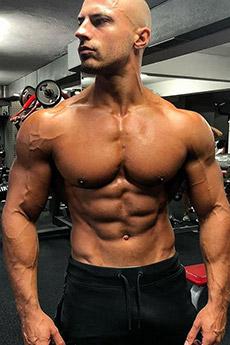 歐美帥氣肌肉男寫真照片