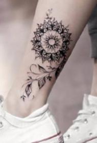脚踝刺青图 9款唯美的脚踝处小清新纹身图片