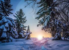 唯美自然雪景高清桌面壁纸