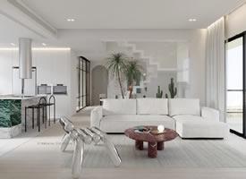 简约优雅现代的家,清爽的色调