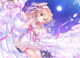 长着翅膀的动漫女孩图片欣赏