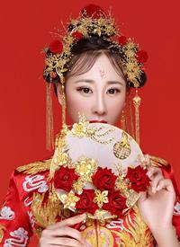 一组超美的古代新娘造型图片