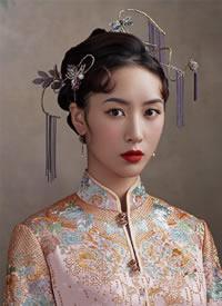 娴静温婉的中式旗袍造型图片