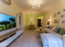 95㎡簡約小清新風格家居裝修設計