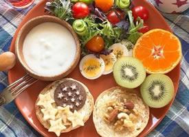 一组高颜值的素食搭配早餐图片
