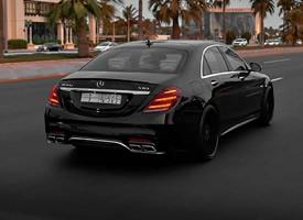 一组黑色帅气的S63 AMG图片欣赏