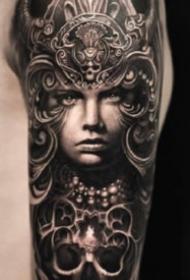 歐美花臂紋身 13款歐美創意寫實的手臂花臂紋身圖案