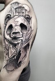 一组迷幻暗黑风格-来自俄罗斯的纹身艺术家的作品