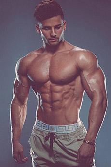 高颜值欧美男神肌肉全身照