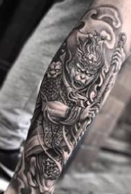 孙悟空纹身 9张齐天大圣孙悟空的霸气纹身图案