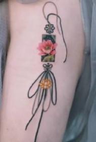 繩結紋身 9張中國風的小清新繩結紋身圖片