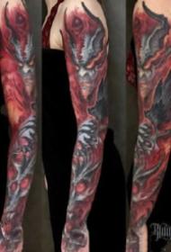 傳統花臂紋身:18款傳統的花臂紋身作品圖案