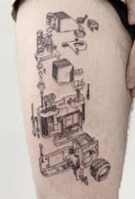相機紋身:9張關于照相機的紋身圖片