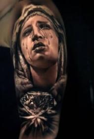 一組歐美黑灰創意寫實紋身圖片