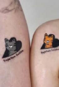 充滿個性和簡潔風格的友情情侶紋身欣賞