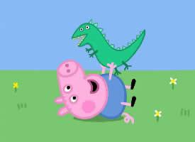 一組小豬佩奇可愛插畫圖片