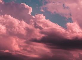 超美的粉色系云朵壁纸