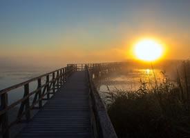 唯美迷人的清晨風景桌面壁紙