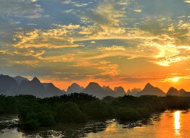 非常有意境的落日黄昏时的图片