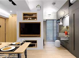 实用面积59㎡小三居装修效果图欣赏