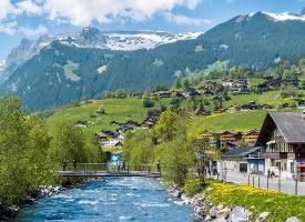美得像童话小镇一样的瑞士风景图