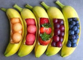 一组极具创意的水果拼盘图片