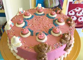 有些特別的復古色系可愛蛋糕圖片
