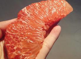 一组酸甜可口的三红柚图片