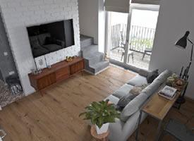 灰白色系品质宅,遇上温润的木色