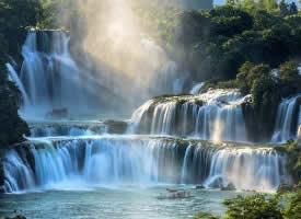 中國最美的德天瀑布圖片欣賞