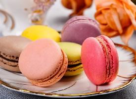 一组颜值超高的马卡龙甜点图片
