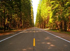 平坦寬闊的公路風景桌面壁紙