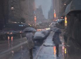 我喜歡下雨,因為只有這樣,我哭泣也不會讓你知道