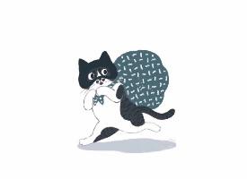 一組可愛的貓咪壁紙圖片