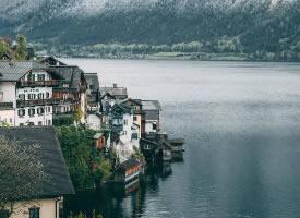 哈爾施塔特小鎮美景圖片