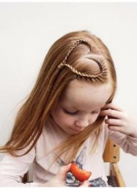 一组超级有创意的小萝莉发型图片