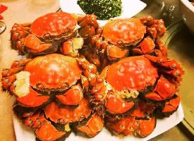 一組五味俱全的大閘蟹圖片