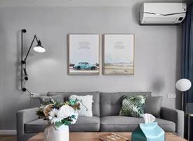 88平木色北歐三居室裝修效果圖