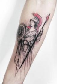 12款红黑色调的水墨纹身图片赏析