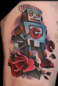 可愛的一組小機器人紋身圖欣賞