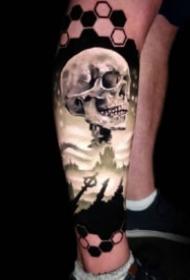 手臂寫實紋身 歐美彩色逼真3d寫實紋身圖案